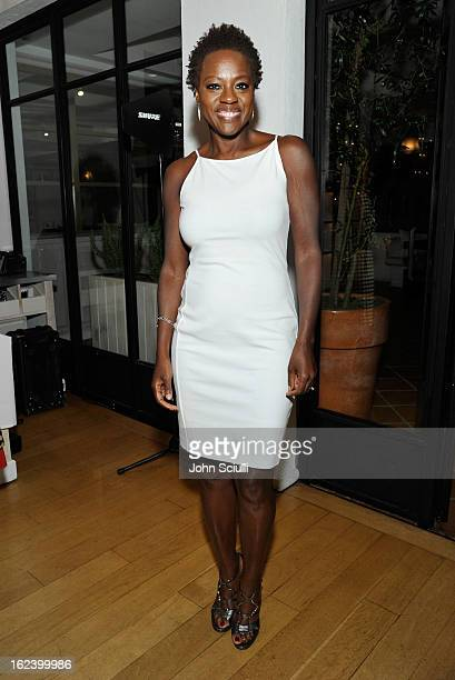 Actress Viola Davis attends the Women In Film's 6th Annual PreOscar Party hosted by Perrier Jouet MAC Cosmetics and MaxMara at Fig Olive on February...