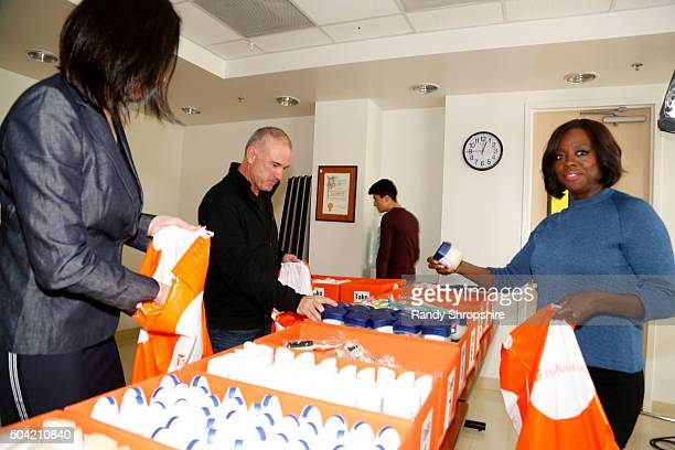 Actress Viola Davis helps out as an advocate for the Vaseline Healing Project with Direct Relief at Eisner Pediatric and Family Medical Center on...