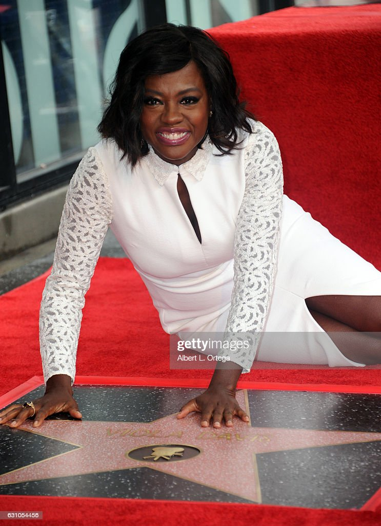 Actress Viola Davis is honored with a star on The Hollywood Walk of Fame on January 5, 2017 in Hollywood, California.