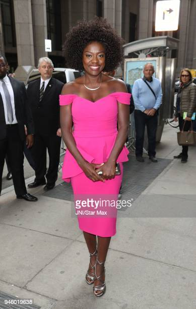 Actress Viola Davis is seen on April 13 2018 in New York City