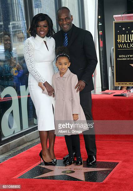 Actress Viola Davis Julius Tennon and Genesis Tennon attend Viola Davis' Star ceremony on the Hollywood Walk of Fame on January 5 2017 in Hollywood...