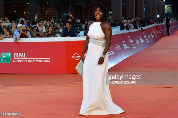US actress Viola Davis poses as she arrives to attend the 14th Rome Film Festival on October 26 2019 at the Auditorium Parco della Musica in Rome