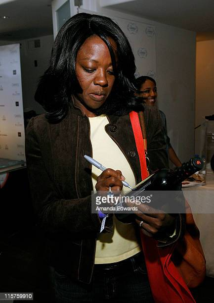Actress Viola Davis poses at Little Black Dress Wines at Kari Feinstein Golden Globes Style Lounge held at Zune LA on January 9, 2009 in Los Angeles,...