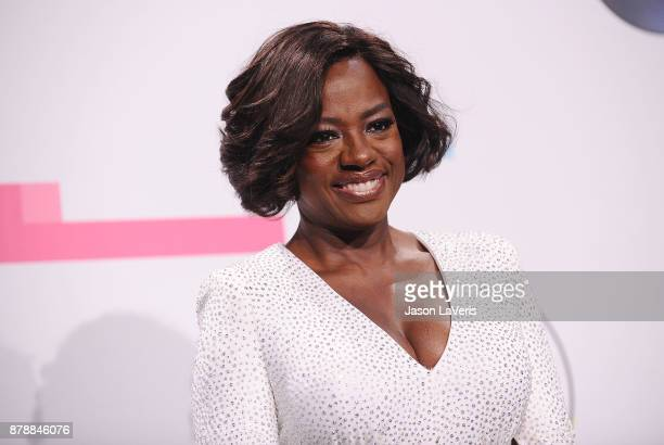 Actress Viola Davis poses in the press room at the 2017 American Music Awards at Microsoft Theater on November 19 2017 in Los Angeles California