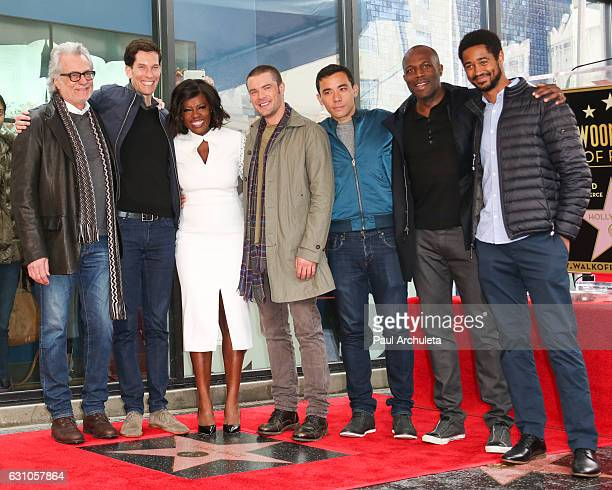 Actress Viola Davis poses with the cast of How To Get Away With Murder at the ceremony to honor Viola Davis with a Star On The Hollywood Walk Of Fame...