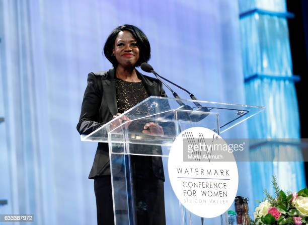 Actress Viola Davis speaks at the Watermark Conference for Women at San Jose Convention Center on February 1 2017 in San Jose California