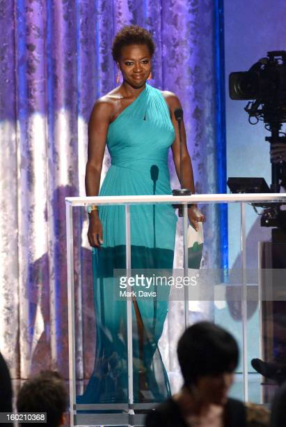 Actress Viola Davis speaks onstage during the 19th Annual Screen Actors Guild Awards held at The Shrine Auditorium on January 27 2013 in Los Angeles...