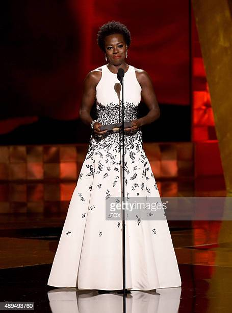 Actress Viola Davis speaks onstage during the 67th Annual Primetime Emmy Awards at Microsoft Theater on September 20 2015 in Los Angeles California