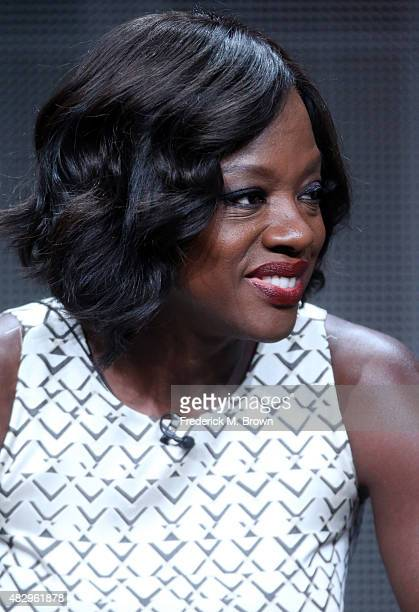 Actress Viola Davis speaks onstage during the 'Grey's Anatomy' 'Scandal' and 'How To Get Away With Murder' panel discussion at the ABC Entertainment...