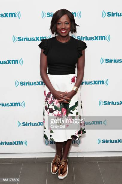Actress Viola Davis visits the SiriusXM Studios on September 28 2017 in New York City
