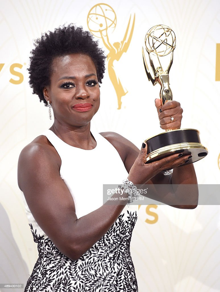 Actress Viola Davis, winner of Outstanding Lead Actress in a Drama Series for 'How to Get Away with Murder', poses in the press room at the 67th Annual Primetime Emmy Awards at Microsoft Theater on September 20, 2015 in Los Angeles, California.