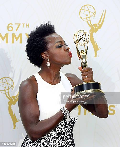 Actress Viola Davis winner of Outstanding Lead Actress in a Drama Series for How to Get Away With Murder poses in the press room at the 67th Annual...