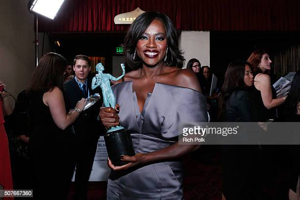 Actress Viola Davis winner of the award for Outstanding Performance By a Female Actor in a Drama Series for 'How to Get Away With Murder' attends The...