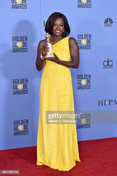 Actress Viola Davis winner of the Best Performance by an Actress in a Supporting Role in Any Motion Picture for 'Fences' poses in the press room...