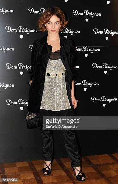 Actress Violante Placido attends Dom Perignon A Beautiful Set cocktail party and dinner at Villa Necchi on October 22 2008 in Milan Italy