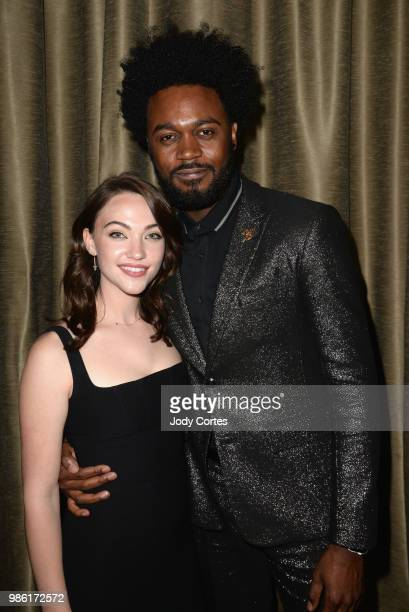 Actress Violett Beane and actor Echo Kellum pose backstage at the Academy Of Science Fiction Fantasy Horror Films' 44th Annual Saturn Awards held at...
