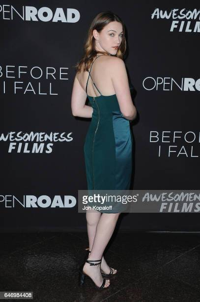 Actress Violett Beane arrives at the Los Angeles premiere Before I Fall at Directors Guild Of America on March 1 2017 in Los Angeles California