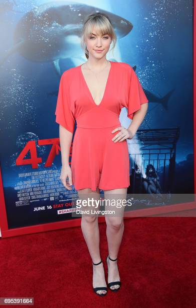 Actress Violett Beane attends the premiere of Dimension Films' '47 Meters Down' at Regency Village Theatre on June 12 2017 in Westwood California