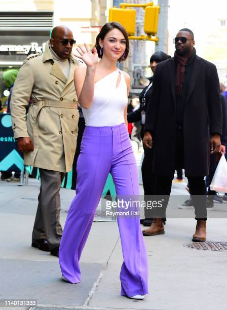 Actress Violett Beane is seen outside aol build on April 29, 2019 in New York City.