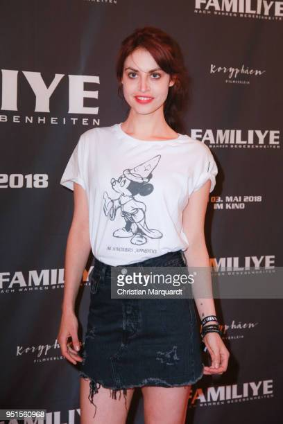 Actress Violetta Schurawlow attends the premiere of 'Familiye' at Cinemaxx on April 26 2018 in Berlin Germany
