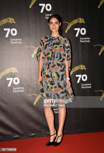 Actress Violetta Schurawlow poses during the 'Iceman' premiere at the 70th Locarno Film Festival on August 8 2017 in Locarno Switzerland