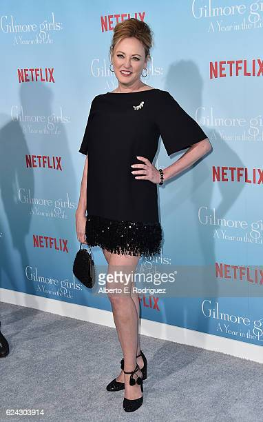 Actress Virgina Madsen attends the premiere of Netflix's 'Gilmore Girls A Year In The Life' at the Regency Bruin Theatre on November 18 2016 in Los...
