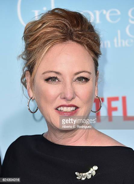 Actress Virgina Madsen attends the premiere of Netflix's Gilmore Girls A Year In The Life at the Regency Bruin Theatre on November 18 2016 in Los...