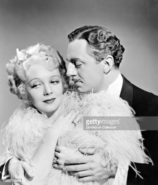 Actress Virginia Bruce and William Powell a scene from the movie The Great Ziegfeld