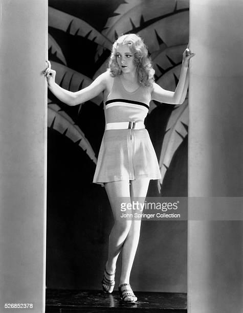 Actress Virginia Bruce Modeling Swimsuit