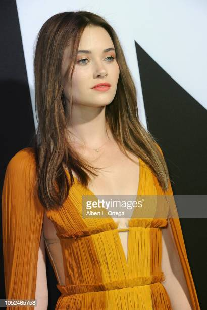 Actress Virginia Gardner arrives for the Universal Pictures' 'Halloween' Premiere held at TCL Chinese Theatre on October 17 2018 in Hollywood...