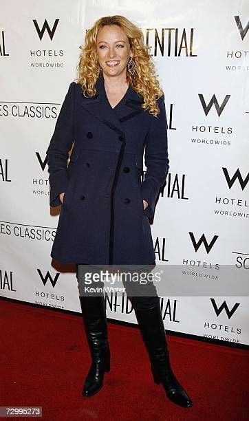Actress Virginia Madsen arrives at LA Confidential Magazine's PreGolden Globe party honoring Penelope Cruz at the W Hotel on January 13 2007 in Los...
