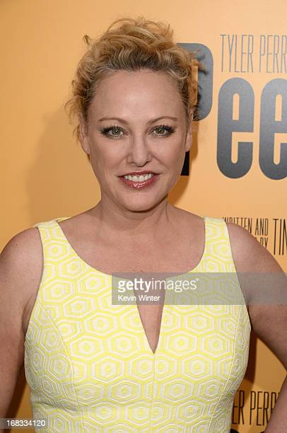 Actress Virginia Madsen arrives at the premiere of 'Peeples' presented by Lionsgate Film and Tyler Perry at ArcLight Hollywood on May 8 2013 in...
