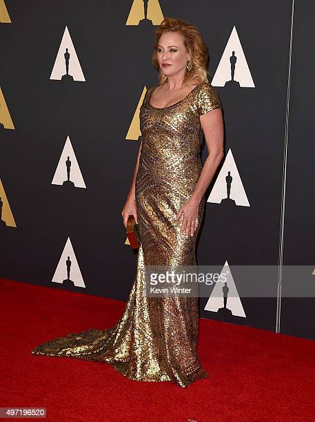 Actress Virginia Madsen attends the Academy of Motion Picture Arts and Sciences' 7th annual Governors Awards at The Ray Dolby Ballroom at Hollywood...
