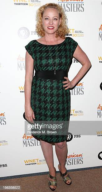 Actress Virginia Madsen attends the Premiere Of 'American Masters Inventing David Geffen' at The Writers Guild of America on November 13 2012 in...