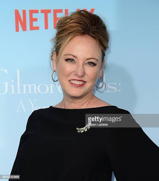 Actress Virginia Madsen attends the premiere of Gilmore Girls A Year in the Life at Regency Bruin Theatre on November 18 2016 in Los Angeles...