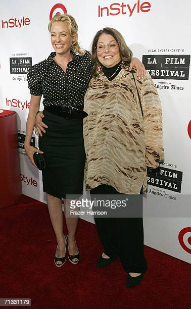 Actress Virginia Madsen poses with mother Chery Madsen at the Los Angeles Film Festival Spirit Of Independence Award Ceremony Honoring Charlize...