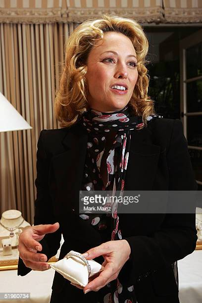 Actress Virginia Madsen visits the Penny Preville Golden Globe Suite at the Four Seasons Hotel on January 13, 2005 in Beverly Hills, California.