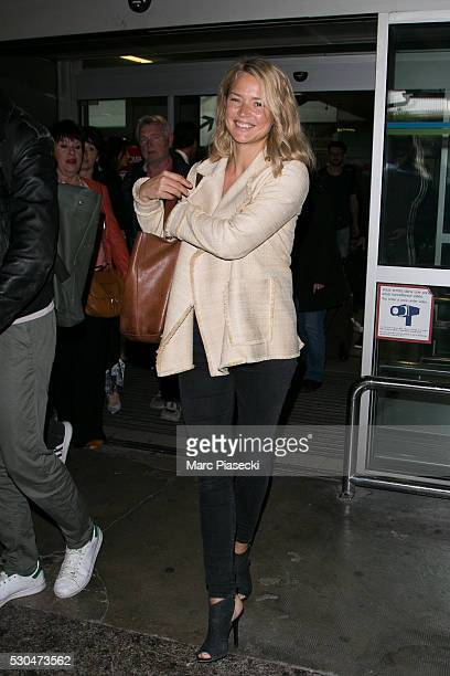 Actress Virginie Efira arrives at Nice airport during the annual 69th Cannes Film Festival at Nice Airport on May 11 2016 in Nice France