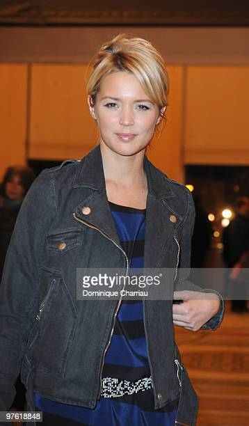 Actress Virginie Efira attends the Yves SaintLaurent Exhibition Launch at Le Petit Palais on March 10 2010 in Paris France