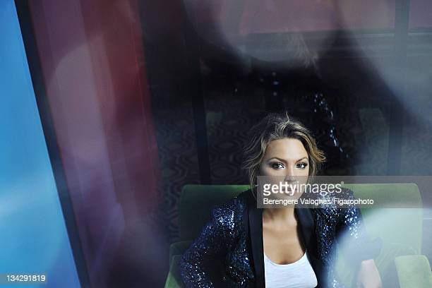 Actress Virginie Efira is photographed for Madame Figaro on October 10 2011 in Paris France Published image Figaro ID 101935008 Blazer by Chanel...