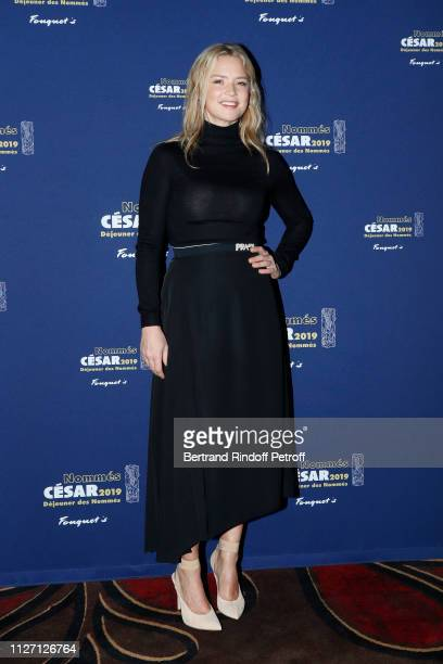 Actress Virginie Efira nominated for the Best Actress 'Cesar 2019' Award for the film 'UN AMOUR IMPOSSIBLE' attends the Cesar 2019 Nominee Luncheon...
