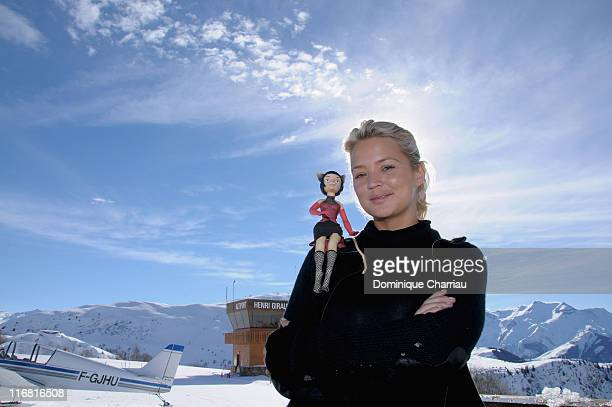 Actress Virginie Efira poses at the Film Festival Of L'Alpe D'Huez on January 18 2008 in l'Alpe d'Huez France