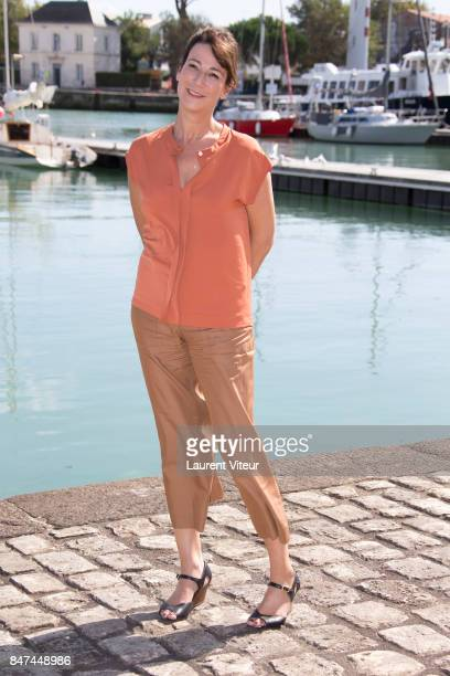 Actress Virginie Hocq attends the 19th Festival of TV Fiction at La Rochelle on September 15 2017 in La Rochelle France