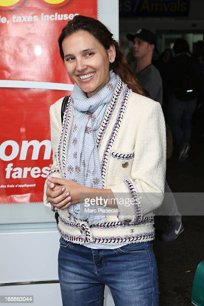 Actress Virginie Ledoyen arrives at Nice airport to attend the 66th annual Cannes Film Festival on May 16 2013 in Nice France
