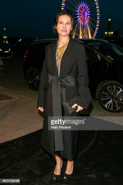 Actress Virginie Ledoyen arrives to attend the 'Madame Figaro' dinner at Automobile Club de France on April 5 2018 in Paris France