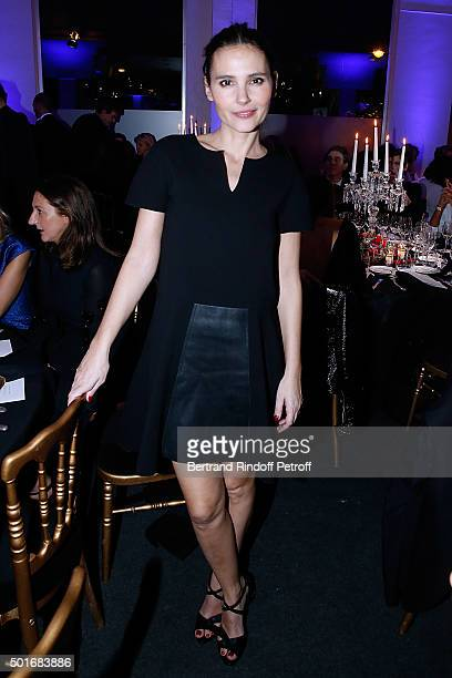 Actress Virginie Ledoyen dressed in Longchamp attends the Annual Charity Dinner hosted by the AEM Association Children of the World for Rwanda Held...