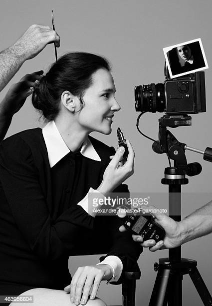 Actress Virginie Ledoyen is photographed for Madame Figaro on January 13 2015 in Paris France Dress Lipstick PUBLISHED IMAGE CREDIT MUST READ...