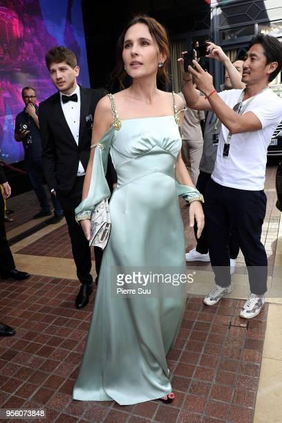 Actress Virginie Ledoyen is seen at 'Le Majestic' hotel during the 71st annual Cannes Film Festival at on May 8 2018 in Cannes France