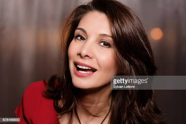 Actress Virginie Visconti is photographed for Self Assignment on April 15 2016 in Liege Belgium