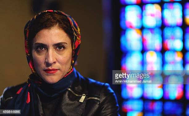 Actress Vishka Asayesh looks on during 'Sperm Whale' Movie on on December 2 2014 in Tehran Iran